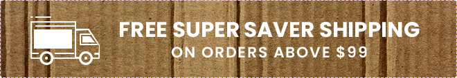 Free Super Saver Shipping on Orders above $99
