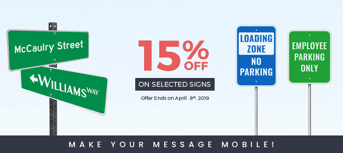 15% OFF ON SELECTED SIGNS