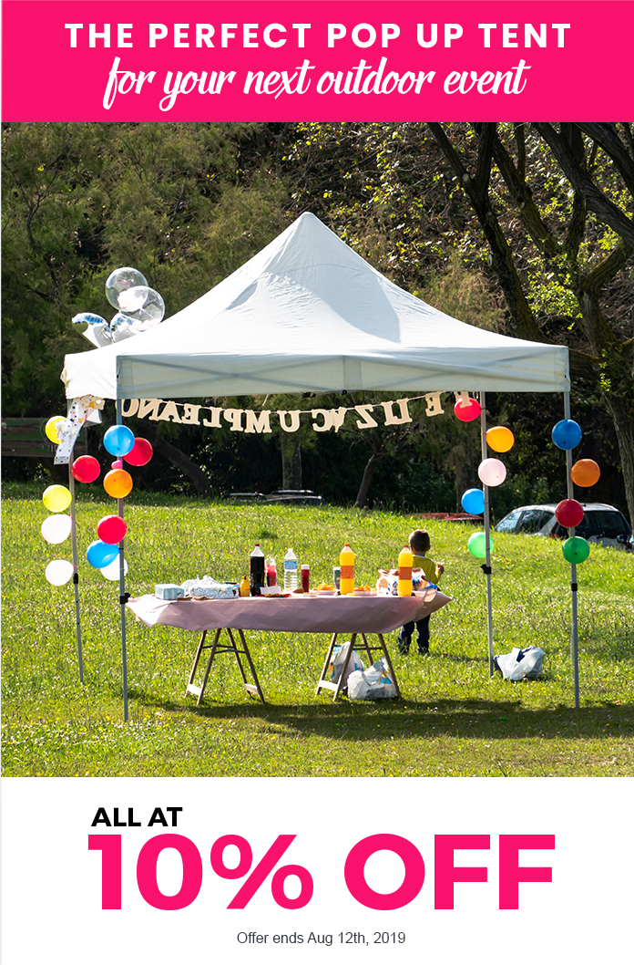 The perfect pop up tent for your next outdoor event