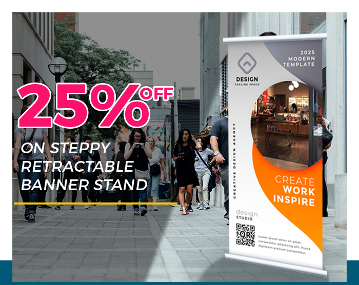25% Off on Steppy Retractable Banner stand